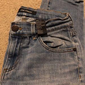Joe Fresh Slouchy Blue Boyfriend Jeans 25